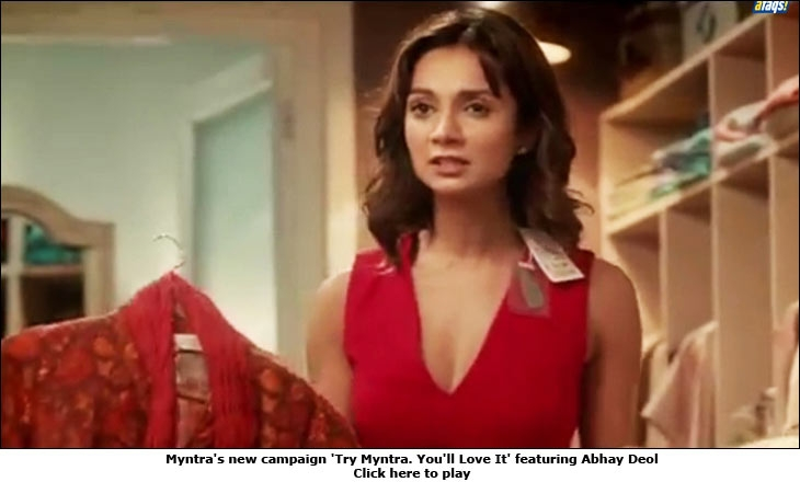 Myntra's new campaign 'Try Myntra. You'll Love It' featuring Abhay Deol