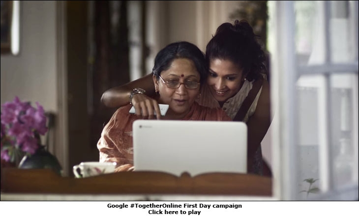Google #TogetherOnline First Day campaign