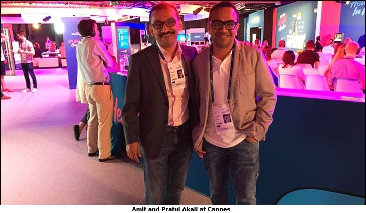 Amit and Praful Akali at Cannes