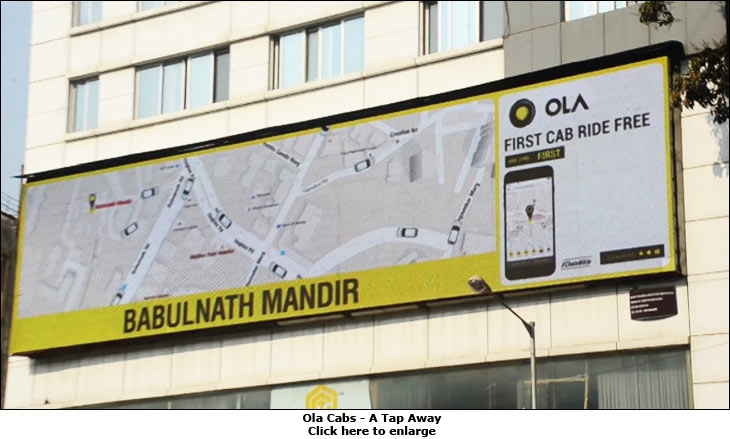 Ola Cabs - A Tap Away
