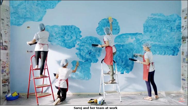 Asian Paints digital ad film 'Saroj - The Leader'
