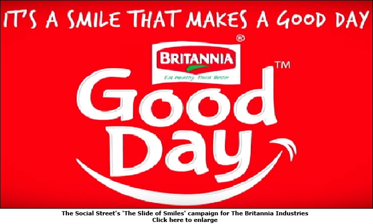 The Social Street's 'The Slide of Smiles' campaign for The Britannia Industries