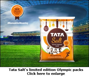 Tata Salt's limited edition Olympic packs