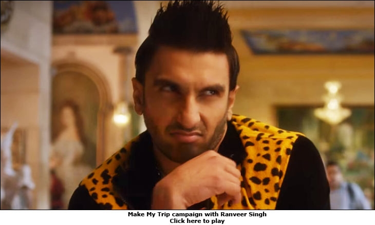 Make My Trip campaign with Ranveer Singh