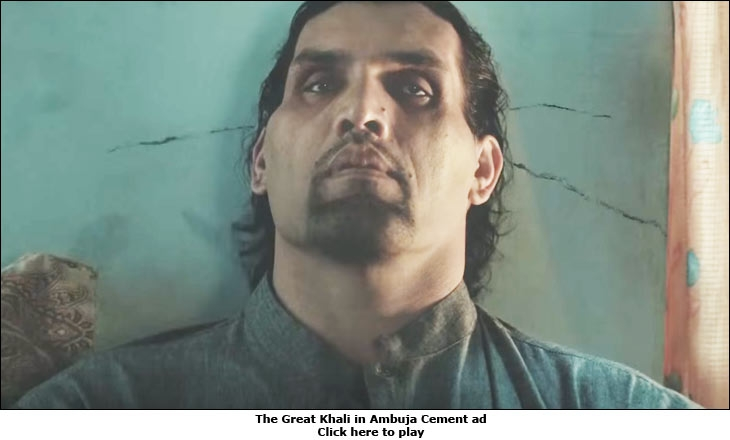The Great Khali in Ambuja Cement ad