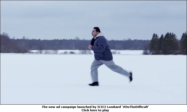 The new ad campaign launched by ICICI Lombard '#DoTheDifficult'