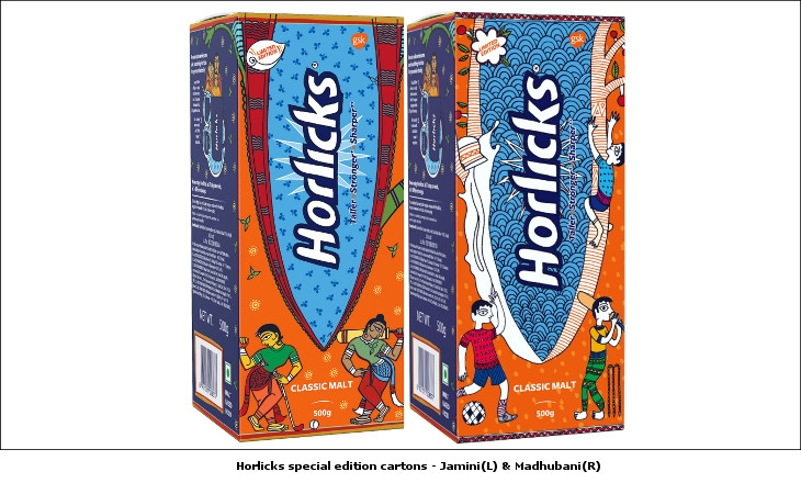 Horlicks cartons