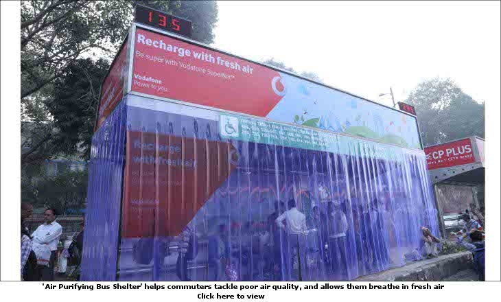 Vodafone's unique out-of-home (OOH) initiative - 'Air Purifying Bus Shelter' at Safdarjung Hospital