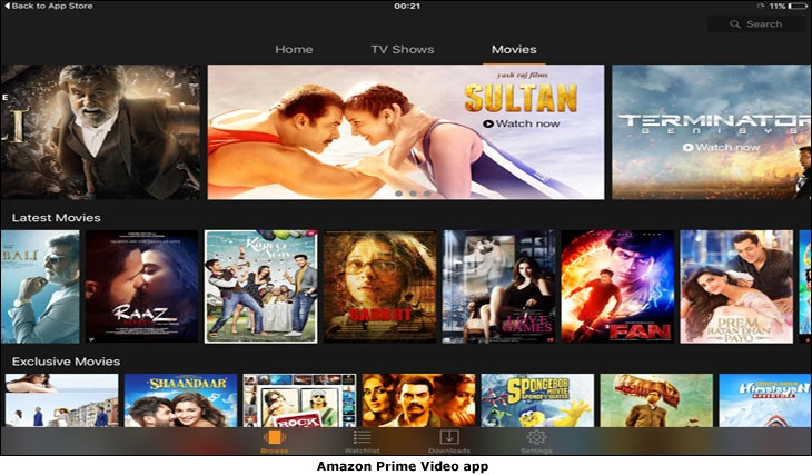 Amazon Prime Video App. Courtesy: AFAQs