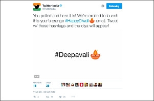 Twitter launches special emoji for Diwali