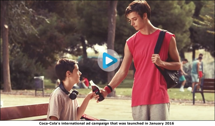Coca-Cola's international ad campaign that was launched in January 2016