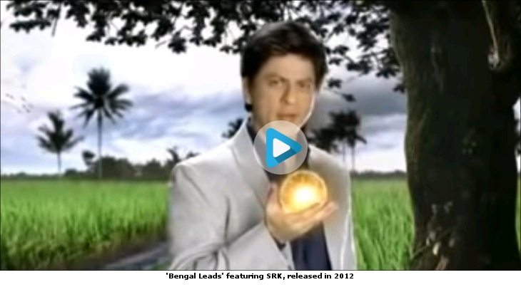 'Bengal Leads' featuring SRK, released in 2012