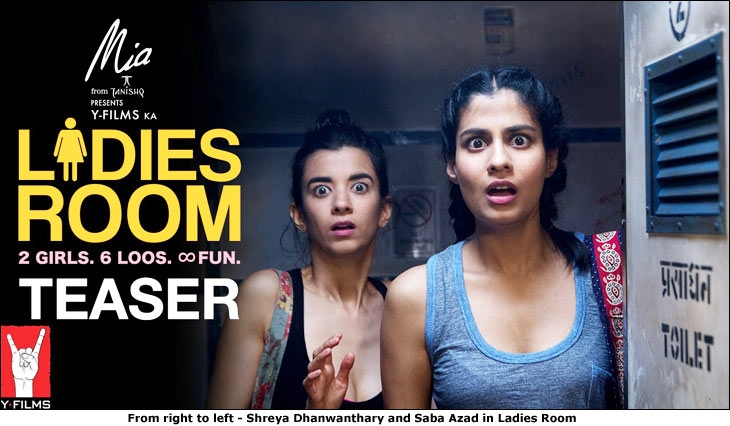 From right to left - Shreya Dhanwanthary and Saba Azad in Ladies Room