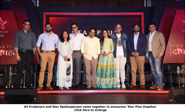 All Producers and Star Spokesperson come together to announce 'Star Plus Dopahar'