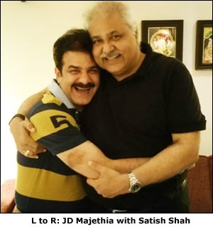 JD Majethia with Satish Shah