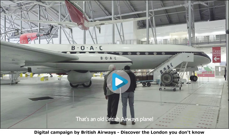 Digital campaign by British Airways - Discover the London you don't know
