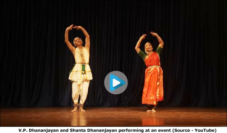 V.P. Dhananjayan and Shanta Dhananjayan performing at an event (Source - YouTube)