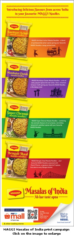 MAGGI Masalas of India print campaign