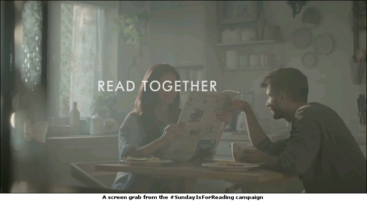 A screen grab from the #SundayIsForReading campaign