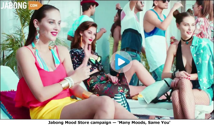 Jabong Mood Store campaign - 'Many Moods, Same You'