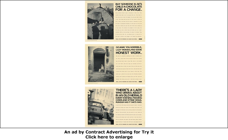 An ad by Contract Advertising for Try it
