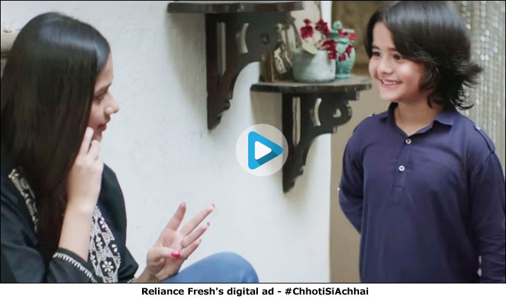 Reliance Fresh's digital ad - #ChhotiSiAchhai