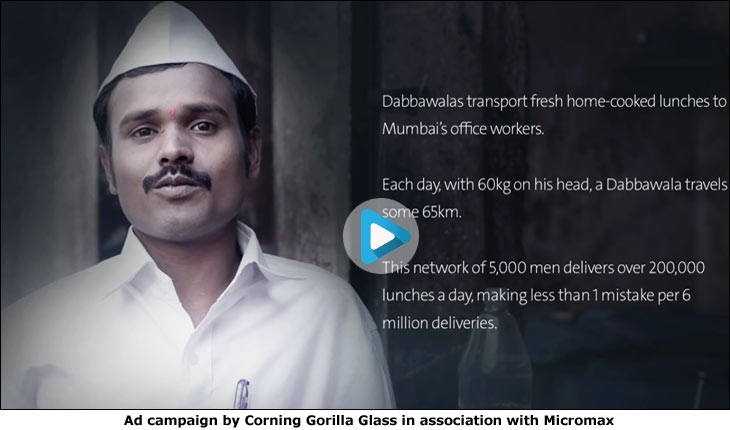 Ad campaign by Corning Gorilla Glass in association with Micromax