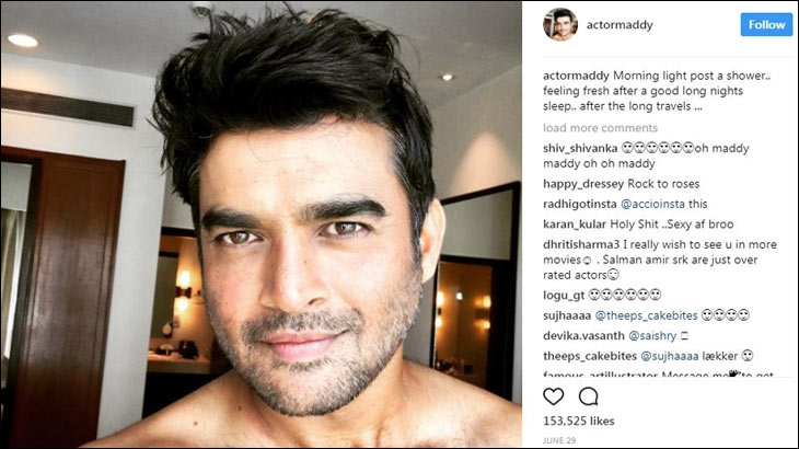 Fans were caught in a frenzy when R. Madhavan shared his 'after shower selfie'