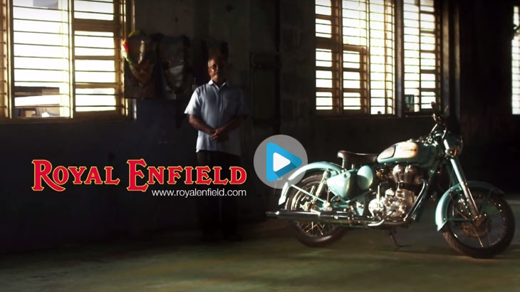 Royal Enfield's ad titled 'Handcrafted in Chennai'