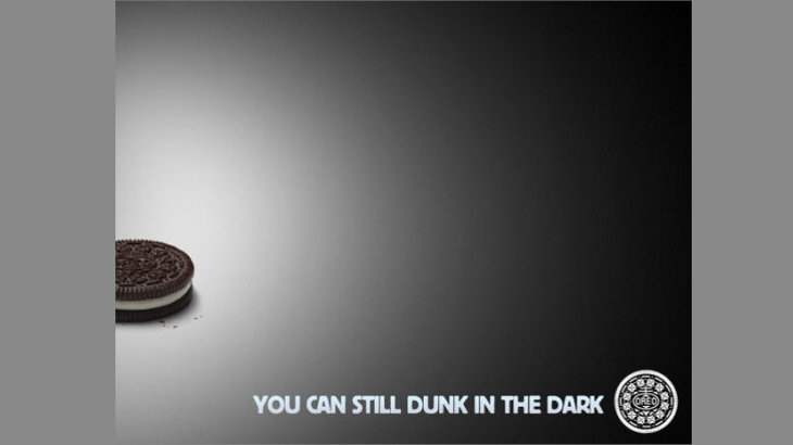 Oreo's Dunk in the dark ad