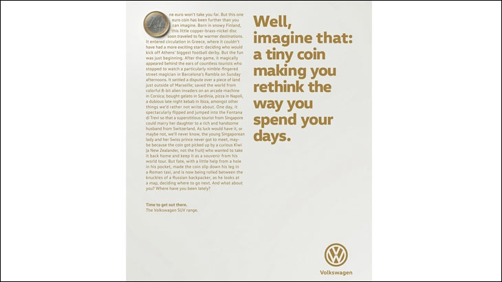 A print ad by DDB Germany for Volkswagen - Source - adsoftheworld