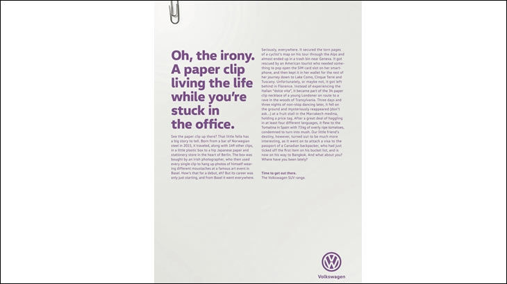 Print ad by DDB Germany for Volkswagen - Source - adsoftheworld