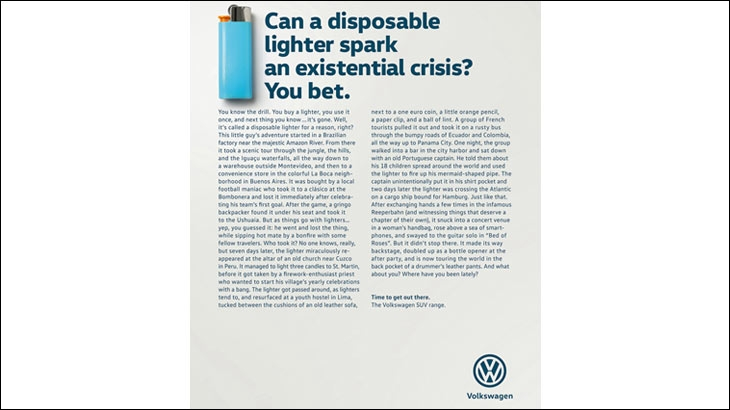 Print ad by DDB Germany for Volkswagen - Source - adsoftheworld.com