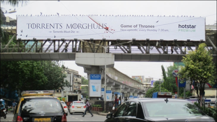 Hotstar's 'Torrents Morghulis' campaign