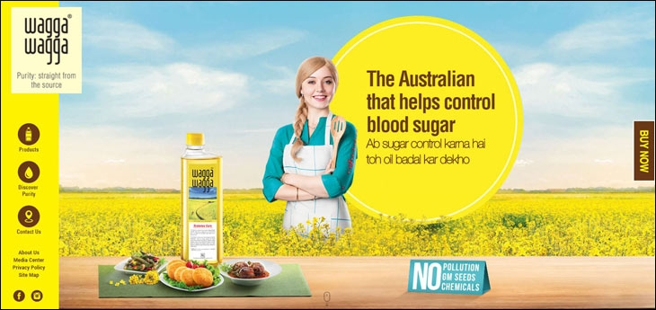 Brand's website has Australia highlighted in bold