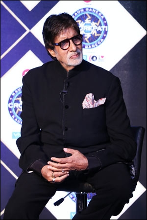 Amitabh Bachchan at the press conference of Kaun Banega Crorepati 9