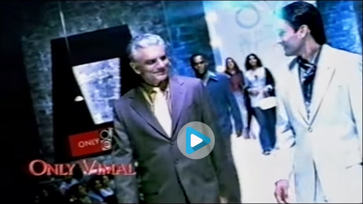 Father-Son duo walk the ramp in Only Vimal TVC