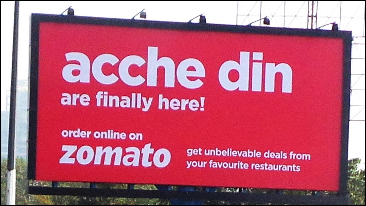 Zomato's outdoor ad
