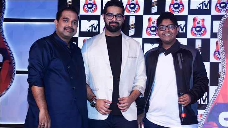 Shankar Mahadevan, Siddharth and Shivam Mahadevan at the launch of Royal Stag Barrel Select MTV Unplugged