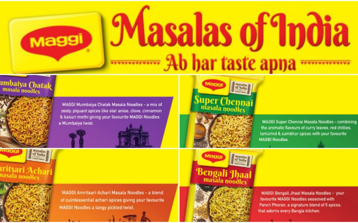 Maggi pushes new flavours in mass media campaign
