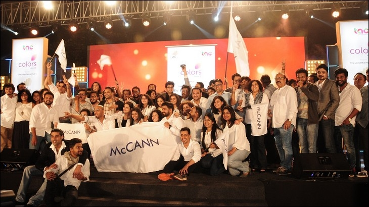 McCann Worldgroup India team celebrating Agency of the Year award