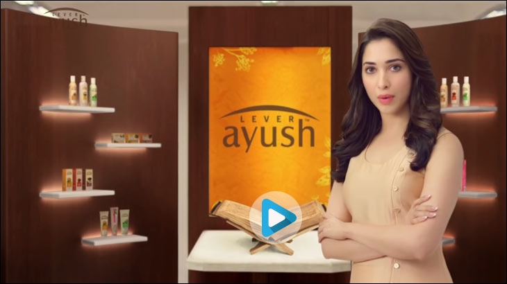 Tamannaah's Lever Ayush Beauty Products TVC