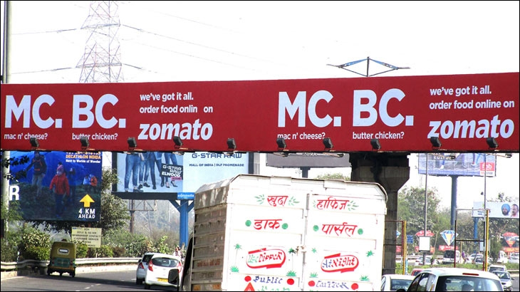 Zomato's outdoor ad - MC.BC. which was discontinued after receiving negative comments on social media