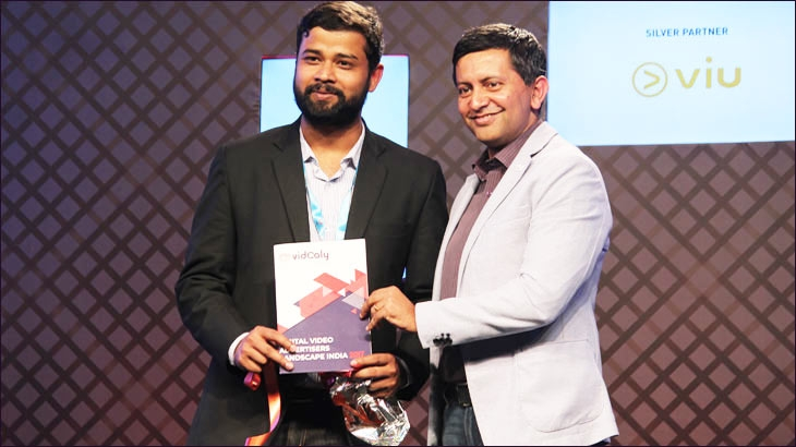 Vidooly's co-founder and CEO Subrat Kar and Vodafone's Siddharth Banerjee at vdonxt asia 2018