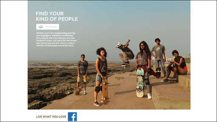 Outdoor/Print creative for Facebook's new campaign