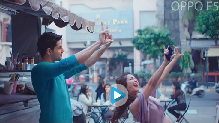 Oppo's recent digital film for its 'F5' handset featuring Sidharth Malhotra and Kriti Kharbanda