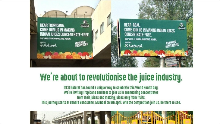 ITC launches frontal attack on rival brands PepsiCo's Tropicana