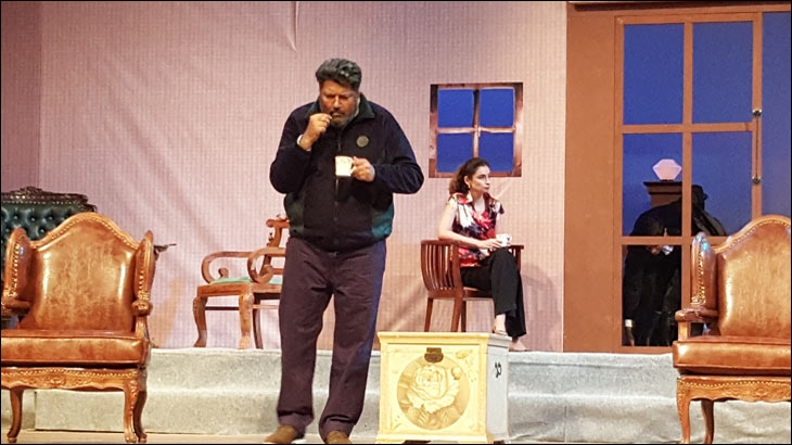 Another screenshot of Talreja in a play