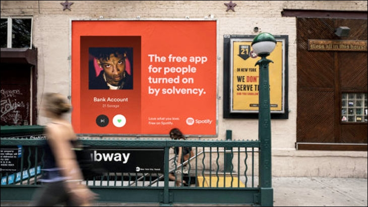 The new Spotify outdoor ad