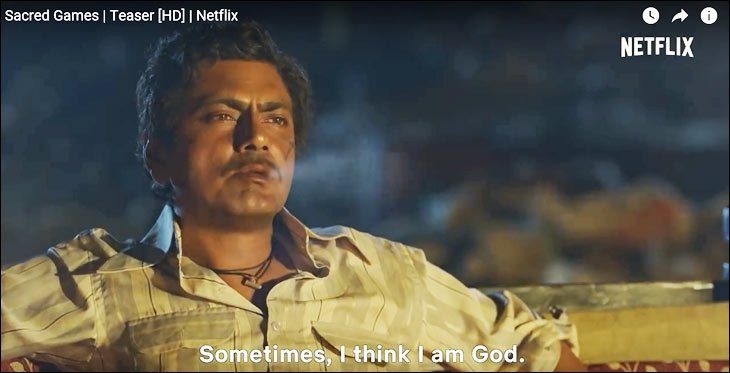 A still from the YouTube teaser of Netflix's Sacred Games